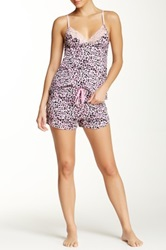 Rene Rofe Printed Camisole And Short Set Pink