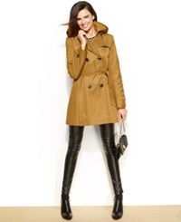 Dkny Petite Hooded Trench Raincoat