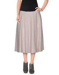 Ailanto Knee Length Skirts Grey