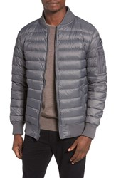 Schott Nyc Men's Reversible Down Bomber Jacket