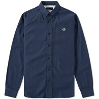 Fred Perry Classic Twill Shirt Blue