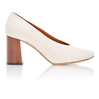 Chloe Women's Block Heel Pumps White Cream Black White Cream Black