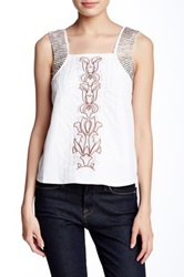 Fate Beaded And Embroidered Blouse White