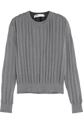 Comme Des Garcons Pleated Knitted Sweater Gray
