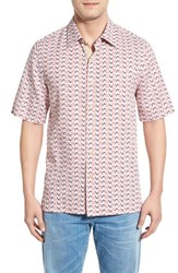 Nat Nast Men's 'Seco' Regular Fit Silk And Cotton Sport Shirt White