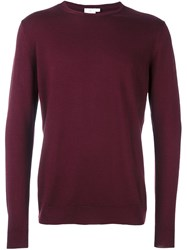 Sunspel 'L S' Pullover Red
