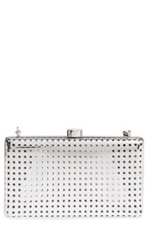 Stella Mccartney Box Minaudiere Metallic Silver