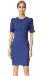 Thierry Mugler Short Sleeve Dress Ocean Blue