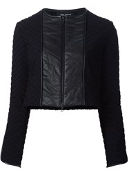 Yigal Azrouel Chevron Quilted Jacket Black