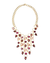 Fragments For Neiman Marcus Fragments Pink Crystal Bib Necklace