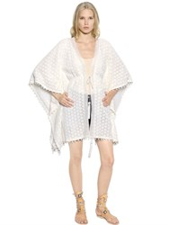 Talitha Cotton Crocheted Lace Caftan Cardigan