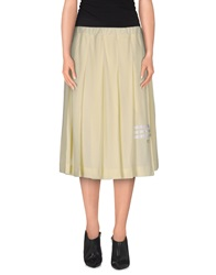 Y 3 Knee Length Skirts Light Yellow