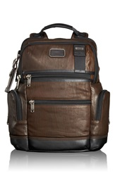 Tumi 'Bravo Knox' Leather Backpack Dark Brown