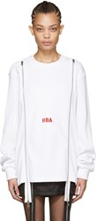 Hood By Air White Thermal Double Zip Pullover