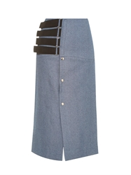 Joe Richards Pica Denim Tweed Pencil Skirt