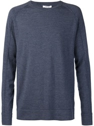 Helmut Lang Crew Neck Sweater Blue