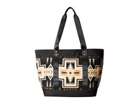 Pendleton Large Zip Canvas Tote Harding Oxford Mix Tote Handbags Gold