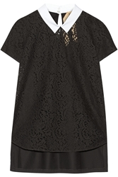 No. 21 Cotton Lace And Jersey Top