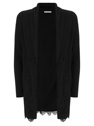 Nougat London Dahlia Lace Drape Cardigan Black