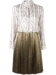 3.1 Phillip Lim Pleated Skirt Shirt Dress Nude And Neutrals