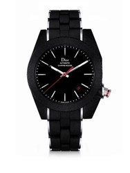 Christian Dior Chiffre Rouge Galvanized Rubber Black Watch
