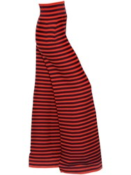 Sonia Rykiel Striped Wool And Cashmere Knit Wide Pants