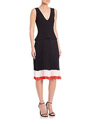 Altuzarra Flamingo Sleeveless Peplum Dress Black
