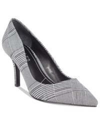 Charles By Charles David Sasha Pumps Women's Shoes Black White Plaid
