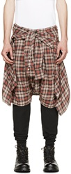 R 13 Black Plaid Vedder Layered Trousers