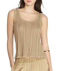 Ralph Lauren Pointelle Knit Tank Cliff Tan