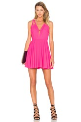 Nbd X Naven Twins Let It Happen Fit And Flare Dress Fuchsia