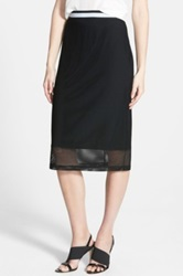 Trouve Mesh Midi Skirt Black