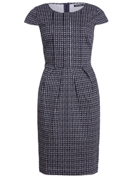 Sugarhill Boutique Georgie Pleat Fronted Tulip Dress Navy