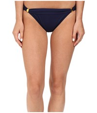 Tommy Bahama Pearl Narrow Hipster Bottom With Hardware Mare Navy Women's Swimwear