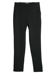 Mango Baggy Trousers Black