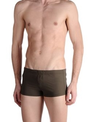 Paolo Pecora Swimming Trunks Military Green
