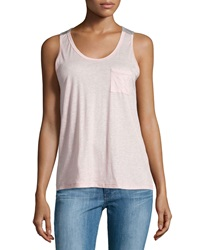 J Brand Ready To Wear Pocket Colorblock Tank Pink Heather Gray