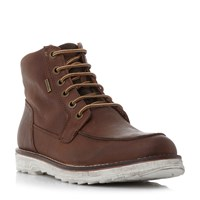 Geox Shoovy Wp Lace Up Boots Tan