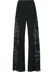 Jonathan Simkhai Embroidered Palazzo Pants Black