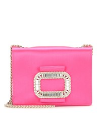 Roger Vivier Tiffany Micro Embellished Shoulder Bag Pink
