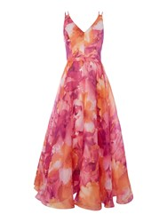 Js Collections Floral Organza Midi Pink