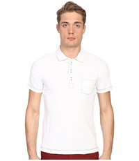 Billy Reid Pensacola Polo White Men's Clothing