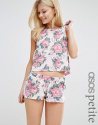 Asos Petite Floral Vest And Short Pyjama Set Multi