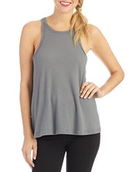 Free People Long Beach Ribbed Tank Top Grey