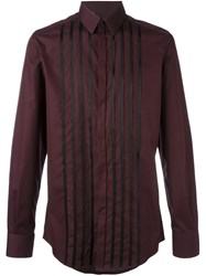 Dolce And Gabbana Panelled Shirt Pink And Purple