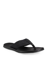 To Boot Thong Sandals Black
