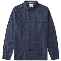 Norse Projects Hans Light Ripstop Shirt Blue