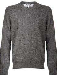 Comme Des Garcons Play Basic Sweater Grey