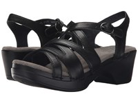 Dansko Stevie Black Full Grain Women's Sandals
