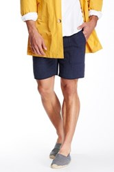 Save Khaki Herringbone Fleece Short Blue